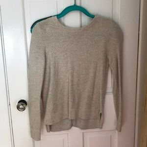 Madewell Oatmeal sweater with button up back